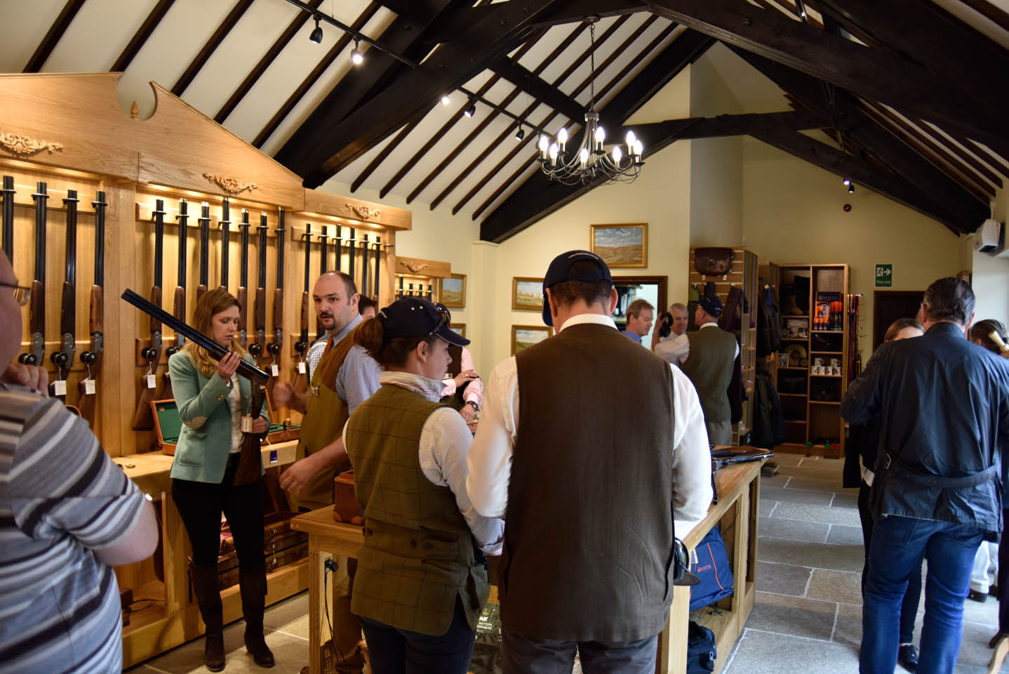 Customers being shown the guns at the Sportarm at Lady's Wood Gun Room