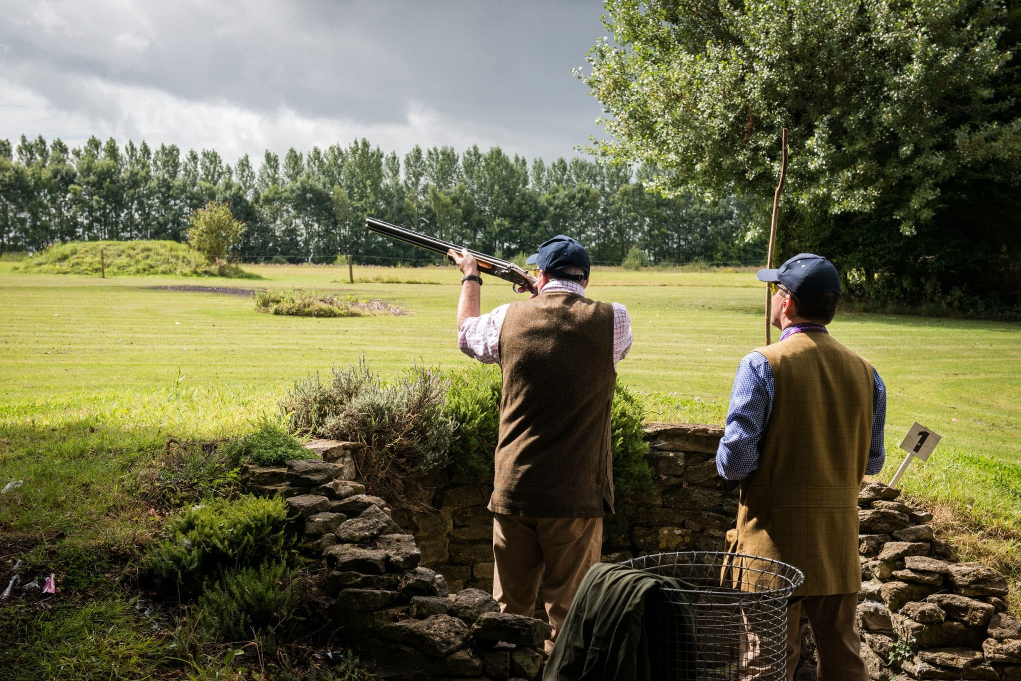 Clay shooting practice at Lady's Wood Shooting School