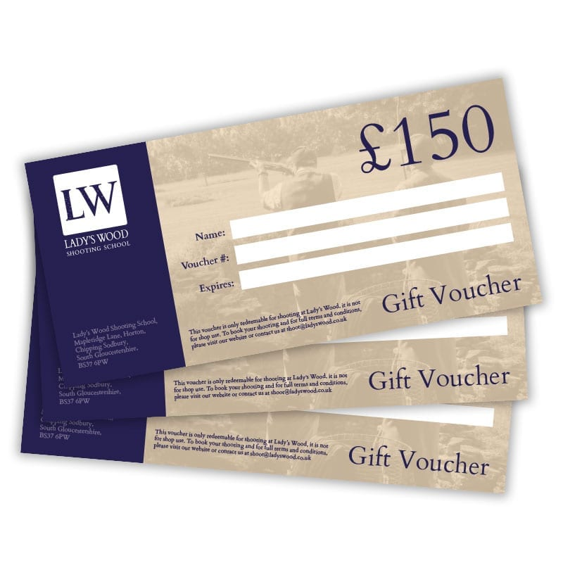 £150 clay shooting gift voucher redeemable at Lady's Wood Shooting School near Bristol