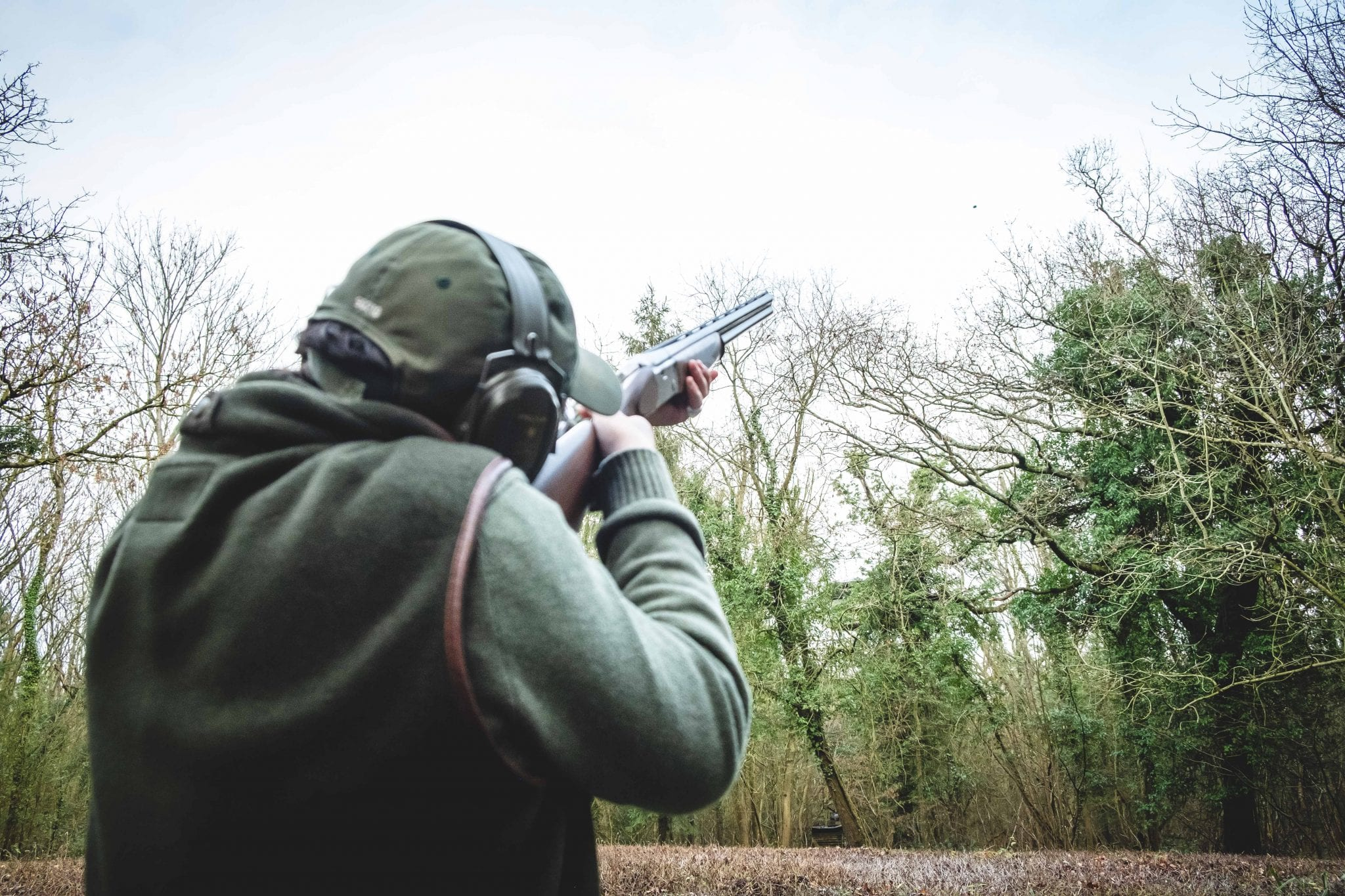 Shooting practice at Lady's Wood Shooting School Bristol