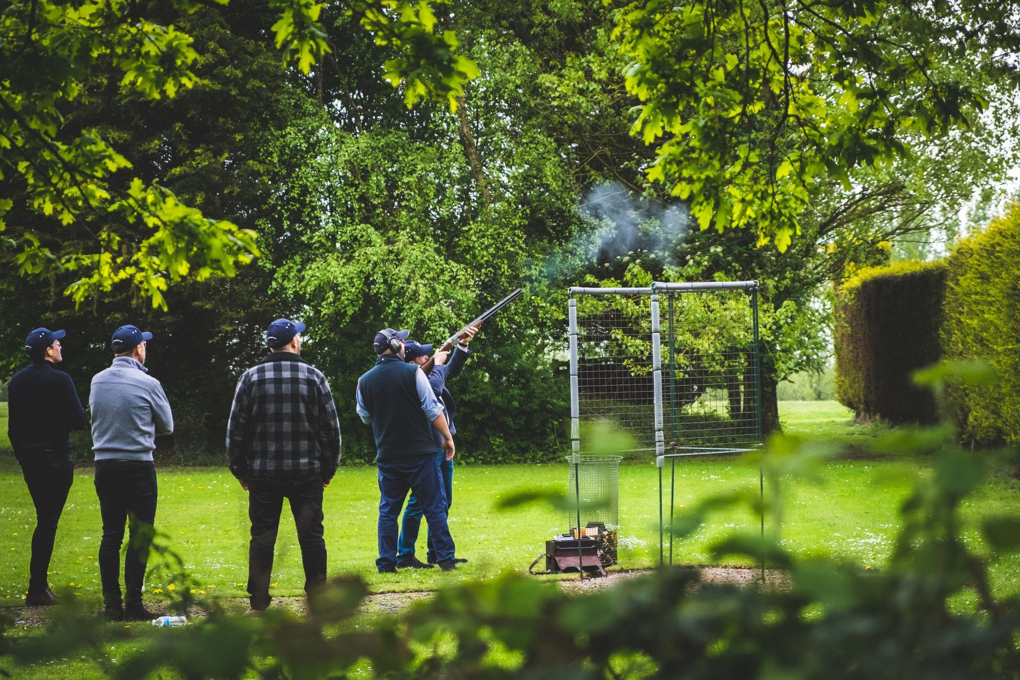 Corporate event in the grounds at Lady's Wood Shooting School