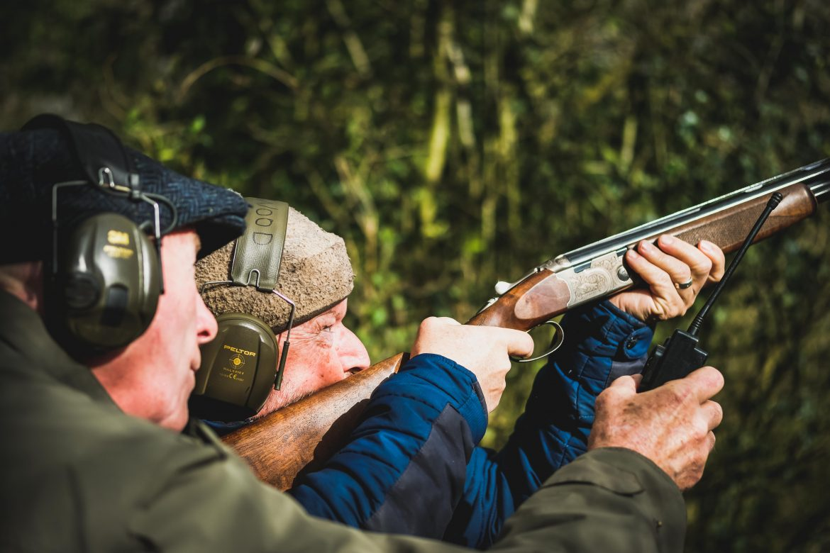 Shooting lessons for beginners at Lady's Wood Shooting School