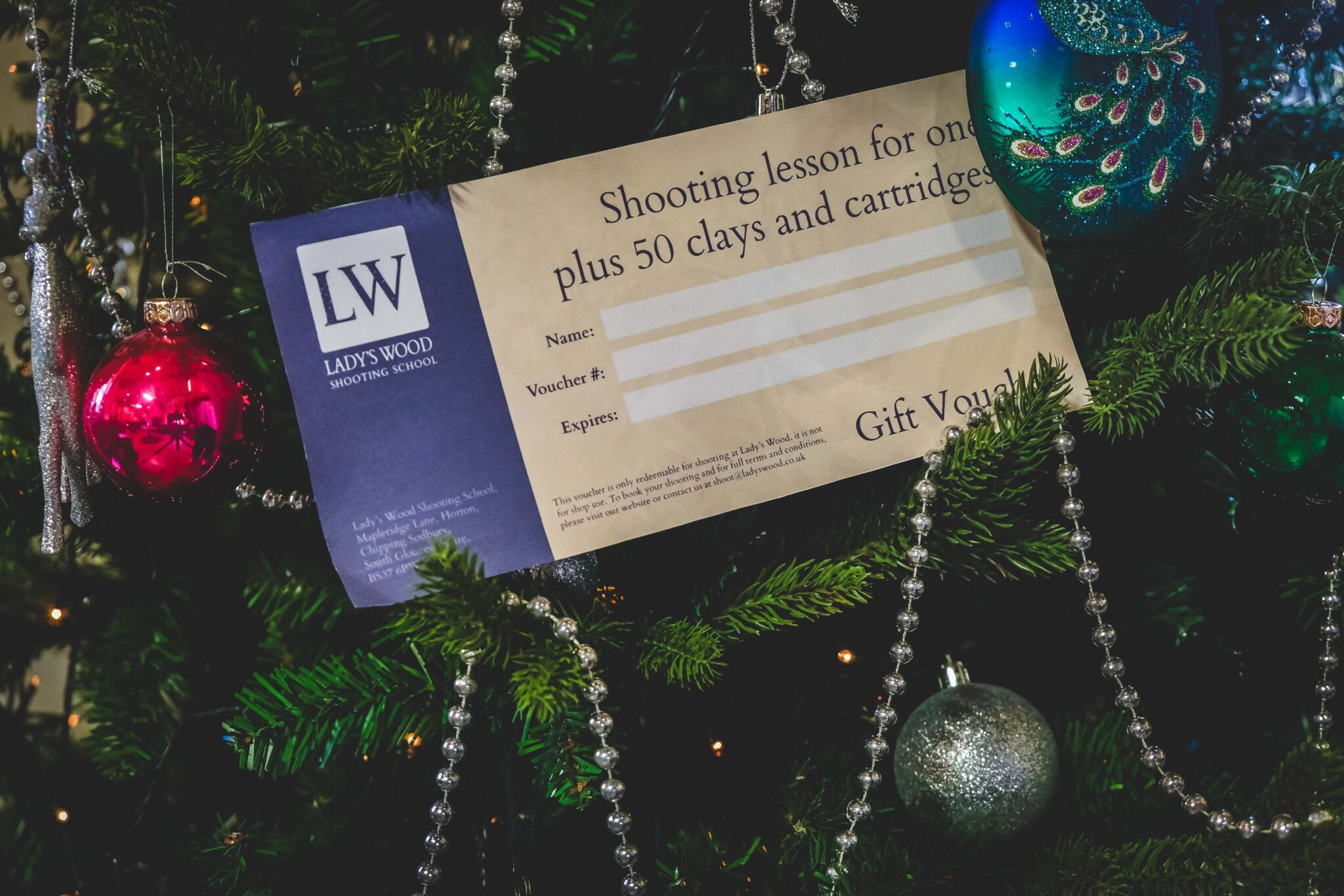 Lady's Wood christmas gift voucher
